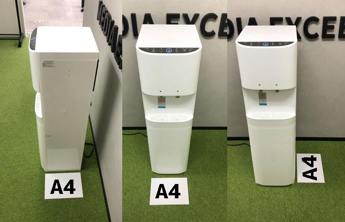 スノーアルプスのサイズ感A4用紙比較
